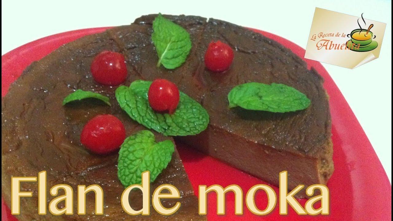 Receta de Flan de moka - Mocha custard recipe - YouTube