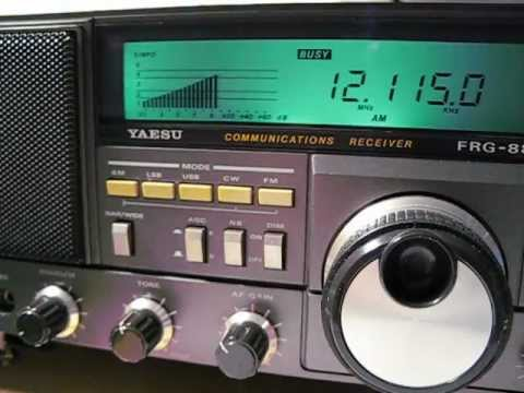 12115 khz Zimbabwe Community Radio received with a Yaesu FRG 8800 in Germany
