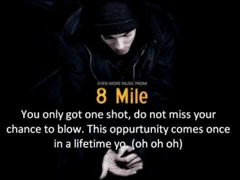 Eminem  Lose Yourself Lyrics