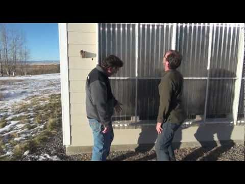 Home built passive solar air heater