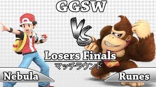 GGSW 117 - Nebula (PKMN Trainer) Vs Runes (Donkey Kong) Smash Ultimate Losers Finals