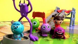 Toxic Race Playset Monsters University Exclusive Roll A Scare Sulley Disney Pixar Monsters Inc toys