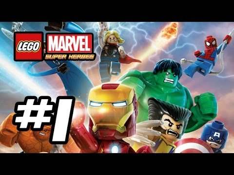 LEGO Marvel Super Heroes Walkthrough - Part 1 - INTRO! - Iron Man. Spiderman (Lego Gameplay HD)