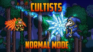Terraria - Cultists Boss with Molten armor (Normal Mode)