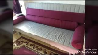 Hacer más cómodo un sofá cama de Ikea confeccionado cojines