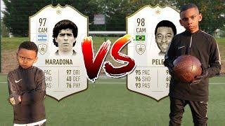 PELÉ VS MARADONA WHOS THE BEST! FOOTBALL CHALLENGE