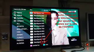 Programmation de chaînes favorites IPTV tornado v5 miniطريقة