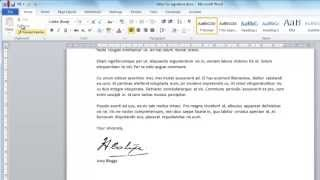How to Create Digital Signature in Word