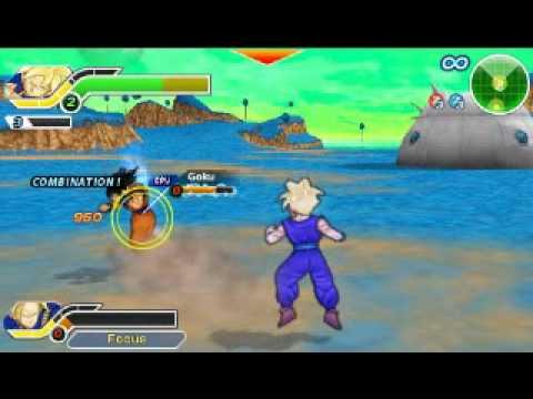 Dragonball Z T. T. T. -free Battle- (psp) - Trunks (fighting Teen) teen Gohan Vs. Vegeta goku video