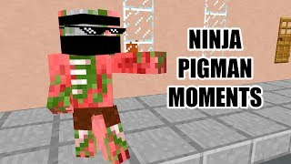 Monster School : NINJA PIGMAN MOMENTS - Minecraft Animation