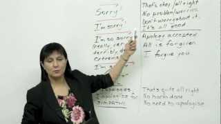 5 ways to say sorry - Polite English