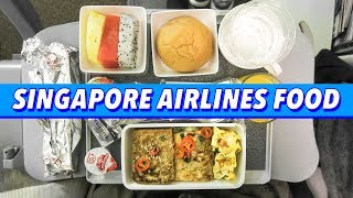 Chinese Airplane Food ► Dim Sum & Braised Beef on Singapore Airlines from Hong Kong to San Francisco