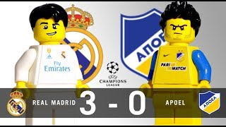 LEGO Real Madrid 3 - 0 Apoel Champions League 2017 / 2018 Group H