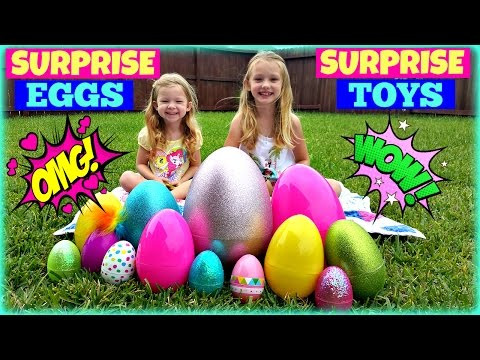 BIGGEST SURPRISE EGGS OPENING! - Surprise Toys Shopkins My Little Pony Sofia The First