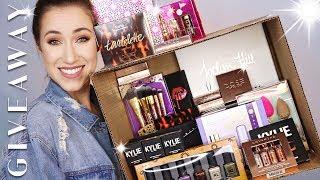 HUGE 100K MAKEUP GIVEAWAY! | Jaclyn, Kylie, Desi x Katy, KL Polish, Tarte & More!