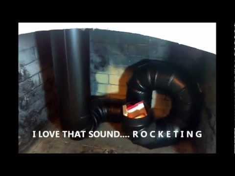 12 31 12 reginalds rocket stove fireplace the test build for Rocket stove inside fireplace