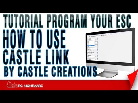 How To Use Castle Link By Castle Creations-Tutorial Program Your ESC