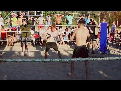 РЫЖИЙ НИНДЗЯ против Ударного Бойца !! Хороший бой !!!
