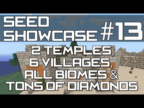 Minecraft Xbox 360 & PS3 - TU16/17 SEED : ALL BIOMES. LOADS OF DIAMONDS. 6 VILLAGES & 2 TEMPLES!