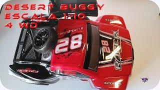 2.4G 1/10 4WD Off-road Desert Buggy RC Simulation Car 1136A. En español