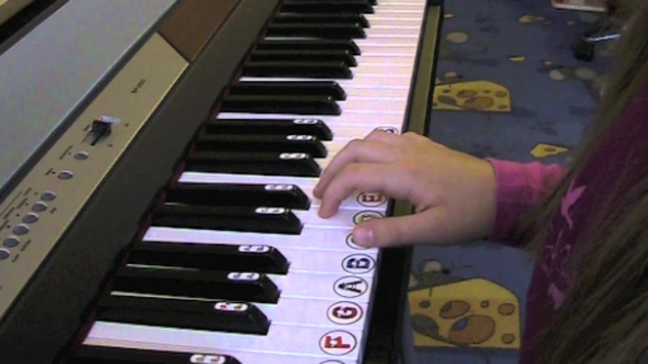 Keyboard For Beginners >> Piano Stickers - kids keyboard accessories - YouTube