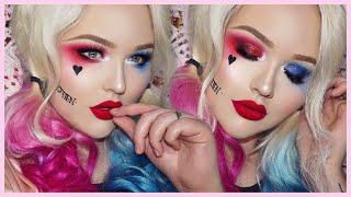 Suicide Squad HARLEY QUINN Glam Makeup Tutorial