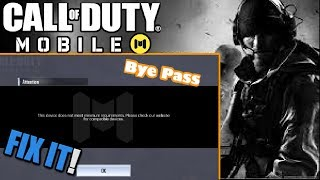 COD Mobile:How to byepass your device doesn't meet minimum requirements.