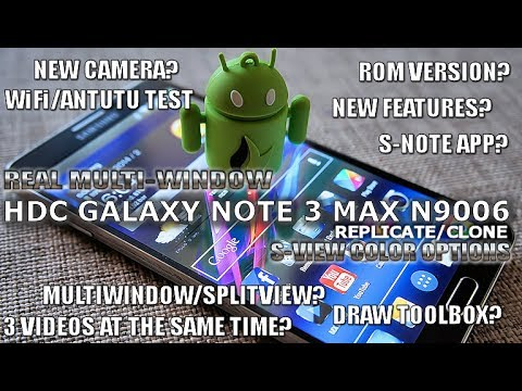 REAL MULTI-WINDOW for the HDC GALAXY Note 3 MAX N9006 (Black) MTK6589 / BEST NOTE 3 CLONE