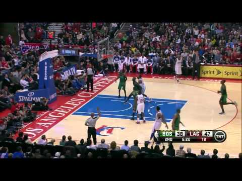 Clippers Bench - Jamal Crawford 17 & Matt Barnes 21 vs Boston Celtics full highlights 12/27/2012 HD