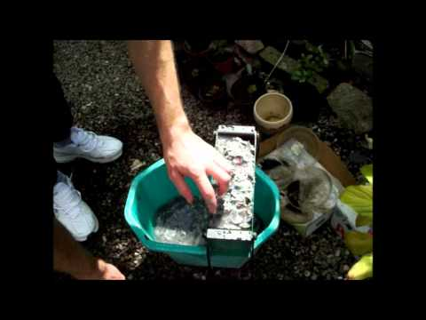 Davius: How to use a Log Maker - demonstration making newspaper bricks