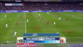 Real Madrid vs Sevilla 2-1 Full Match First half H