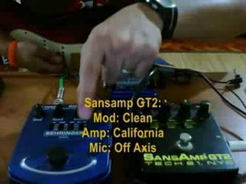 Sansamp GT2 vs Behringer GDI21
