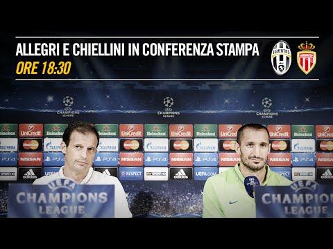 LIVE IN ITALIANO - La conferenza stampa di Allegri e Chiellini pre Juventus - Monaco