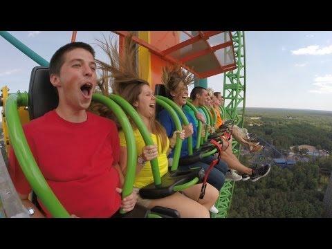 Zumanjaro Drop of Doom POV World's Tallest Drop Ride Six Flags Great Adventure