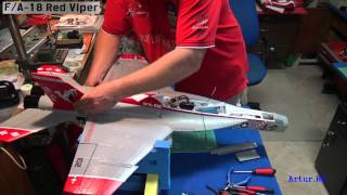 F/A-18 Red Viper assembly - instalation 70mm EDF Jet