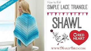 How to Knit One Skein Simple Lace Triangle Shawl