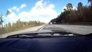 Shelby GT 500 200 mph/320 km/h on German Autobahn/public roads