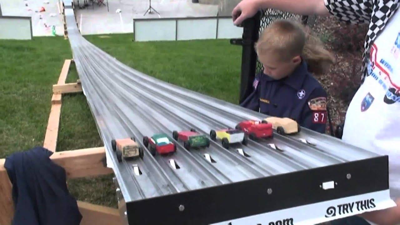 Longest pinewood derby track lanes salt lake city