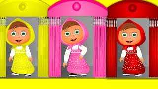 Learning colors with masha and bear