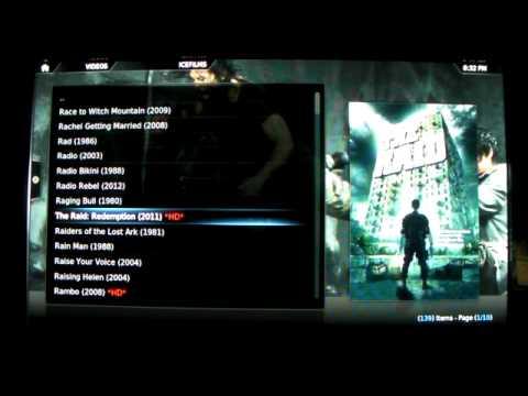 XBMC TV SHOWS & MOVIE DEMO ALSO ON