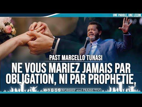 PAST MARCELLO TUNASI   NE VOUS MARIEZ JAMAIS PAR OBLIGATION, NI PAR PROPHETIE, MARIEZ VOUS LIBREMENT