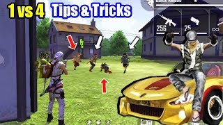 Top 5 Solo vs Squad Tips & Tricks😲🔥//Free fire Battleground