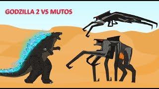 GODZILLA 2: GODZILLA vs MUTO Cartoons Battles - Animated Movie (Part 7)