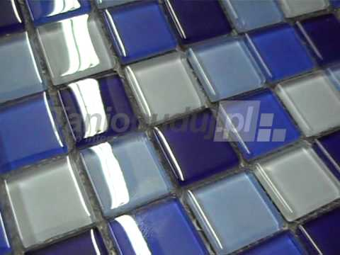 Dune malla cristal azul youtube for Losetas decorativas pared