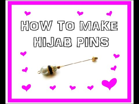 HOW TO MAKE HIJAB PINS - SUPER EASY TUTORIAL - MUSKA JAHAN