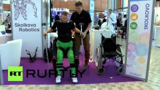 France: Russian startup ExoAtlet present human exoskeleton at Innorobo 2015