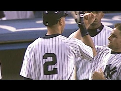 Derek Jeter hits a walk-off single