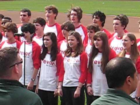 Trevor Day School sings at Citi Field June 5th Mets vs Marlins.avi