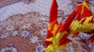 Yellow & Red Dragon 3d Origami By Angeliqs