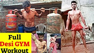 Today Special Desi Workout | Muscular Desi Bodybuilding | Village Boy Hard Desi GYM Workout.